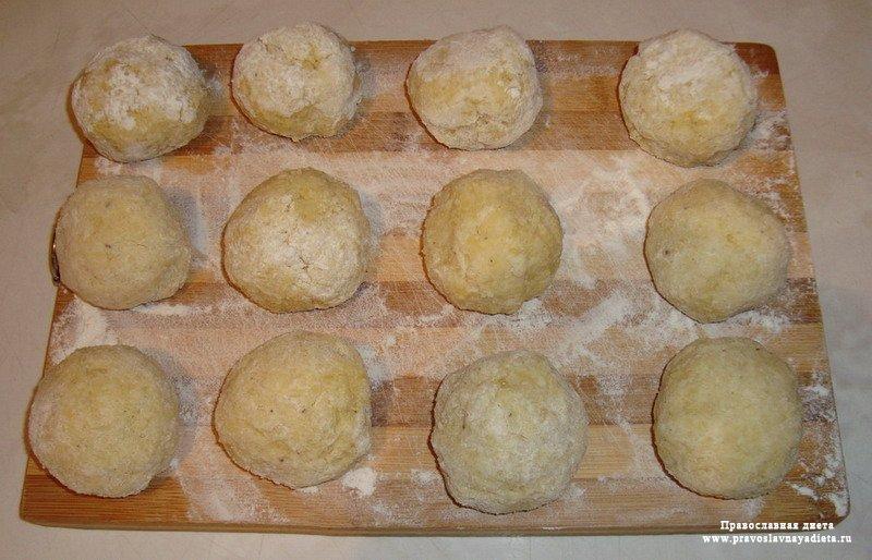 Зразы картофельные с мясным фаршем (Цепелины)